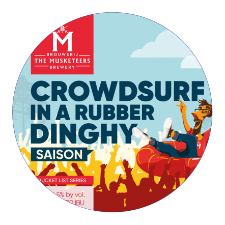 The Musketeers Troubadour Crowdsurf in a Rubber Dinghy