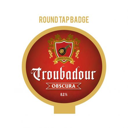 The Musketeers Troubadour Obscura Tap Badge