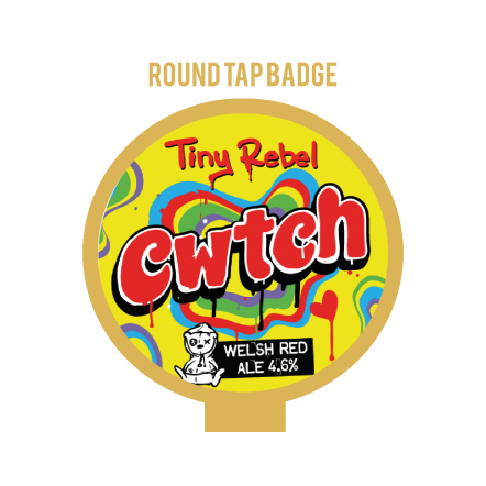 Tiny Rebel Cwtch Tap Badge