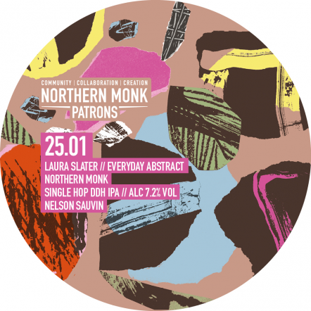Northern Monk Everyday abstract // laura slater // single hopped DDH IPA // 25.01