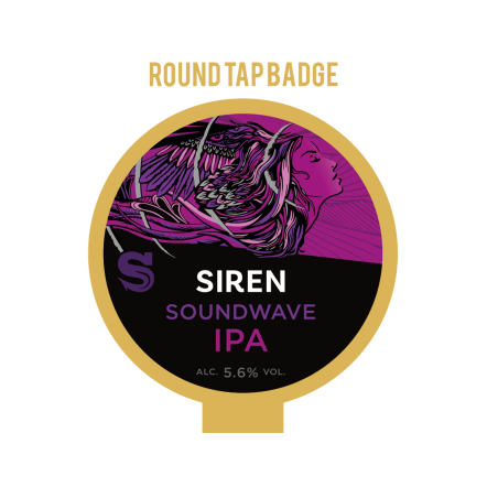 Siren Sound Wave Tap Badge