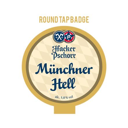 Hacker-Pschorr Munich Hell Tap Badge
