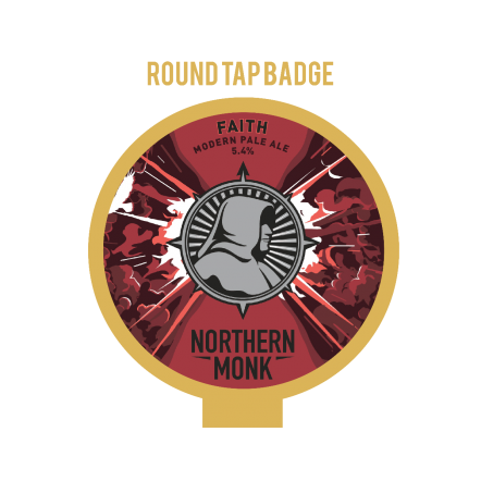 Northern Monk Faith Tap Badge