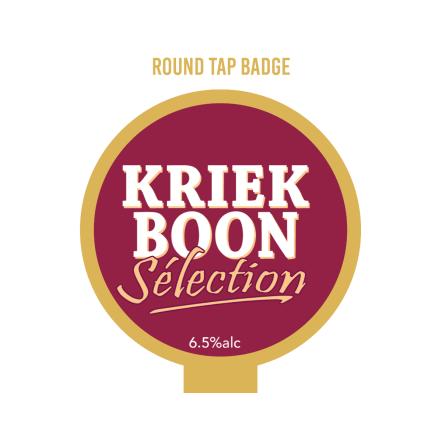 Boon Kriek Selection Tap badge