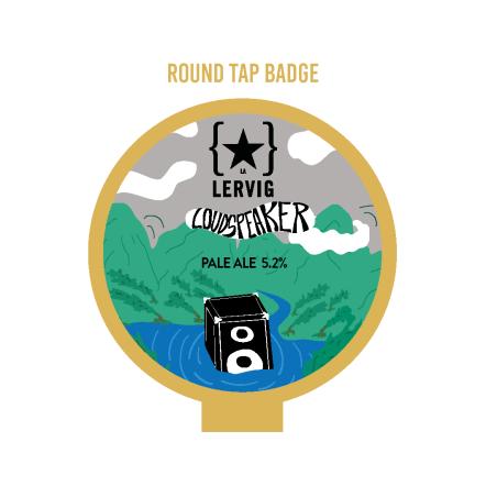 Lervig Loud Speaker Round Tap Badge