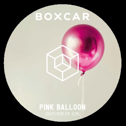 Boxcar Pink Balloon