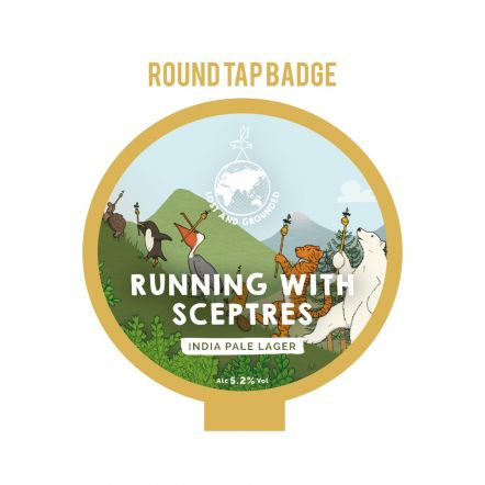 Lost and Grounded Running with Sceptres Tap Badge