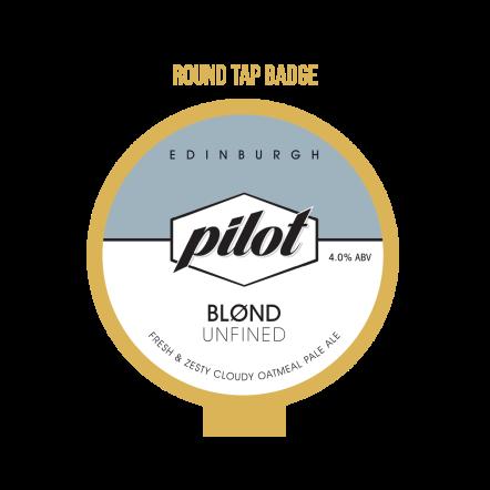 Pilot Blond Round tap badge