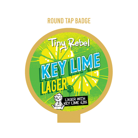 Tiny Rebel Key Lime Round Tap Badge