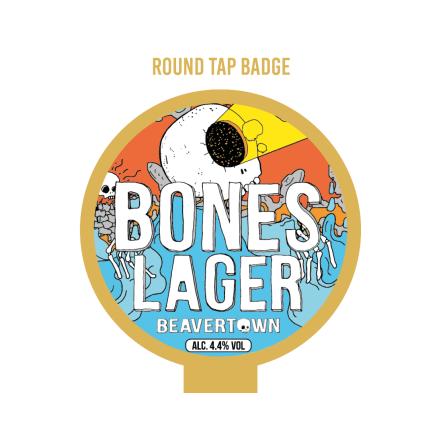 Beavertown Bones Tap Badge