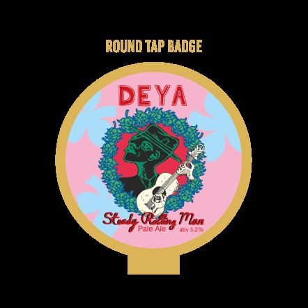 DEYA Deya Steady Rolling Man Badge ROUND