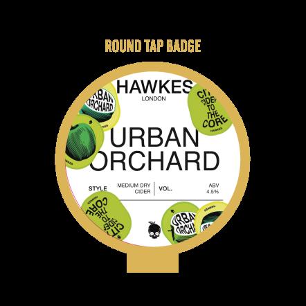 Hawkes Urban Orchard Tap Badge