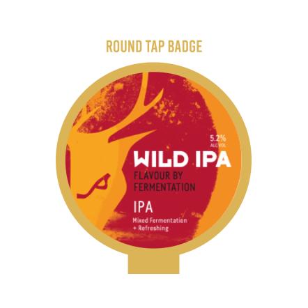 Wild Beer Co Wild IPA Tap Badge