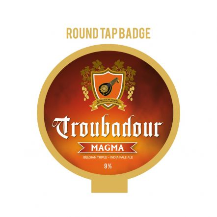 The Musketeers Troubadour Magma Tap Badge