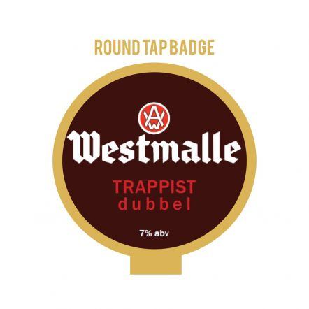 Westmalle Dubbel Tap Badge